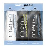 men-� - 3 x 15 ml - Matt Pack - Gesichtspflege f�r fettige Haut (mit Maske) - Travel