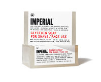 Imperial Barber - Glycerin Shave/Face Soap Bar - Glycerinseife, reines pflanzliches Glycerin, angereichert mit Vitamin E