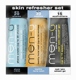 men-� - 3 x 15 ml - Skin Refresher Set - Rasur & Gesichtspflege f�r fettige Haut - Travel