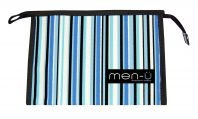 men-u - Kulturtasche - Stripes Toiletry Bag - blau-wei�